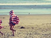 longue plage automne