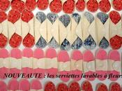 Nouveauté serviettes lavables fleurs