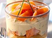 Verrine apéritif originale Tiramisu saumons ciboulette