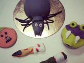 Gâteaux biscuits pour Halloween araignée, citrouille doigts sorcière monstre.