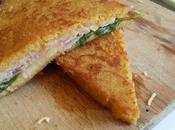 Pain perdu façon croque-monsieur… basilic {sans gluten} simple mais bon!