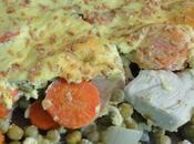 Gratin poulet légumes croûte fromage blanc