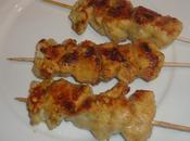Brochettes poulet marinees plancha