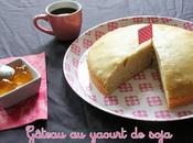 Gâteau yaourt soja, classique version sans gluten lait