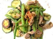 Poelee legumes verts croquants lardons d'agneau presto