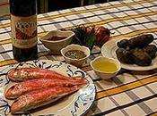Rosace rouget-barbet mi-cuit aromates, écrasé pomme terre vitelotte, émulsion foie rouget l'Irouléguy
