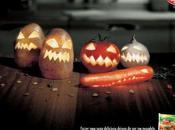Publicité marques dans l'ambiance d'Halloween