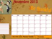 [Calendrier] Novembre