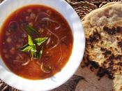 Harira marocaine aubergines pois chiches