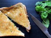 Croque saumon-pousses d'épinards