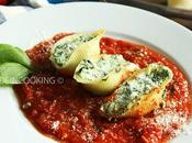 Conchiglie épinards ricotta sauce tomate
