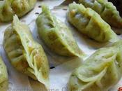 Raviolis feuilles saule carottes citronelle 柳叶蒸饺 liǔyè zhēngjiǎo