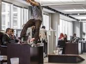 Bull Daily Grind Skateboarders take over Chicago office space