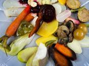 Composition légumes d'automne glacés, verveine thym
