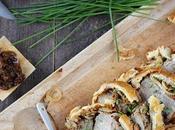 Rôti veau oignons moutarde croûte feuilletée