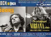 Parce légendes meurent jamais Richard Walter Productions présente, Soirée TRIBUTE DOORS NIRVANA, février 2014 l'Olympia