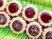 """Gâteaux goûter """"Tartelettes sablées confiture chocolat"""""""