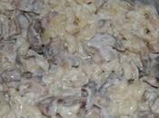 Pates champignons sauce tartare