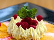 Chef chef avec Sweet pour dessert detox carpaccio betteraves chioggia kaki