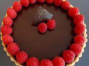 Tarte chocolat framboise noix coco