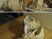 Paper sculpture Smaug Dragon Seigneur Anneaux