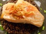 saumon l'unilatérale lentilles vertes coco
