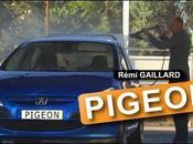 Rémi Gaillard déguise pigeon dans station lavage