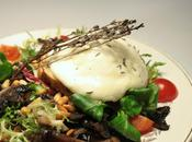 Salade mozzarella fumée thym