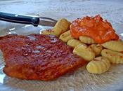 Escalope paprika gnocchis sauce Cheddar (Vegan)