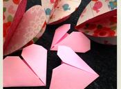 DIY: coeurs papier cousus origami pour Saint Valentin