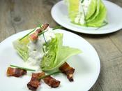 Salade iceberg, bacon sauce bleu