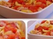 Gratin thon, tomates, courgettes, crème tomate basilic