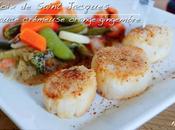 Noix Saint Jacques corail, sauce crémeuse orange gingembre