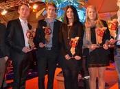 Trophées «Alsace, Terre Jeunes Talents» 2013 remise chèques cinq jeunes talents dans territoires