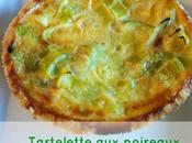 Tartelettes poireaux sans gluten, lait, soja