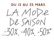 mars, Galeries Lafayette lancent avec réductions jusqu'à -50%