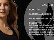 Cartes d'identité personnages Divergente