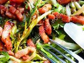 Salade pissenlit avec vinaigrette miel moutarde