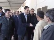VIDEO. Syrie: l'incroyable sortie président syrien Bachar al-Assad Adra (Damas)