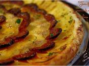 Tarte fine pommes terre chorizo