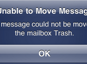 Erreur imap iphone ipad unable move message trash
