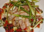 Langoustines cuites carapace leur sauce vierge