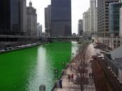 rivière Chicago colorée vert pour Saint-Patrick