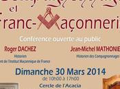 Conférence Compagnonnage Franc-Maçonnerie Roger Dachez Jean-Michel Mathonière, Marseille (13) dimanche mars 2014