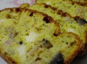 Cake salé, endives, champignons, bacon