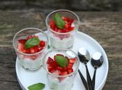 Aidez-moi représenter l'Italie Paris recette Panna cotta basilic fraises