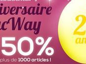 MacWay fête ans, jusqu'à -50% plus 1000 produits