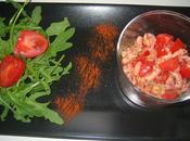 Nuage gouda avec tomates cerises crevettes grises!!!!