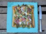 Feuilleté asperges vertes jambon selon Christophe Felder