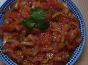 chakchouka/tchaktchouka plat base poivron/ tomate /oignon))